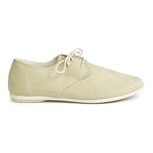 Slowers Pixie, Zapatos Veganos Mujer Womens, Marfil, 36