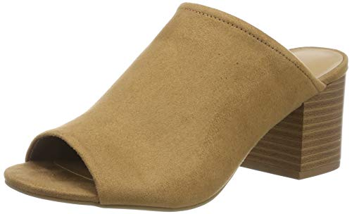 Call It Spring EU RABISHA, Zapatos de tacón con Punta Abierta Mujer, Braun Monk S Robe 220, 38.5 EU