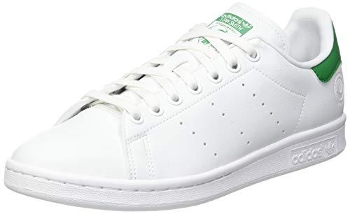 adidas Stan Smith Vegan, Sneaker Hombre, Footwear White/Green/Footwear White, 44 2/3 EU