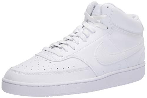 Nike Court Vision Mid, Zapatilla de Baloncesto Hombre, Blanco, 44 EU