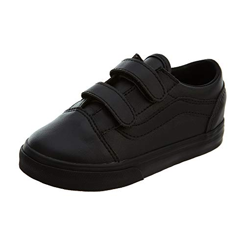 Vans Boy Old Skool V Niño Rip Cinta De La Escuela Zapatos 26 EU Black Mono