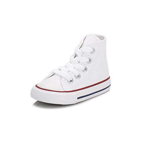 Converse Toddler White All Star Hi Trainers-UK 10 Infant