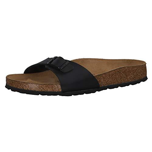 Birkenstock Schuhe Madrid Birko-Flor Schmal Black (040793) 39 Schwarz