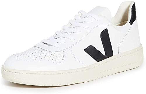 VEJA V-10 Zapatillas Moda Hombres Blanco/Negro - 44 - Zapatillas Bajas