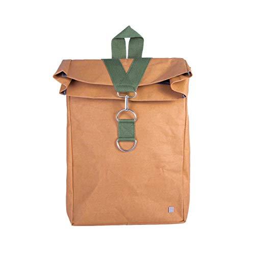 WOLA Mochila para portátil Bolsa 14 Pulgadas Origami Bolsa de Papel Vegana Verde