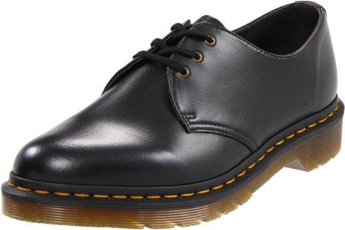 Dr. Martens 1461 Vegan - Zapatos de cordones para hombre, Negro, 44