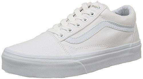 Vans Old Skool, Zapatillas Unisex Adulto, Blanco (True White W00), 37