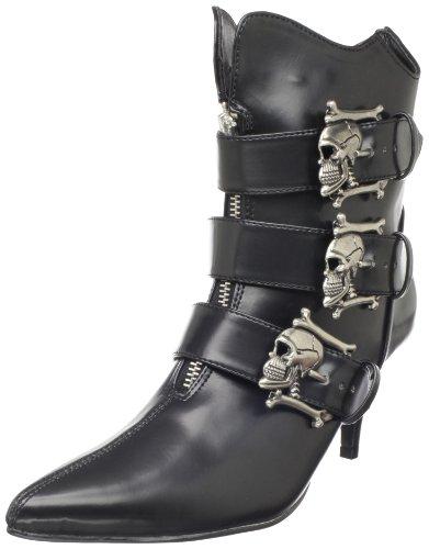 Demonia FURY-06, Botines Mujer, Negro (Negro (Blk Nappa Vegan Leather), 40 EU