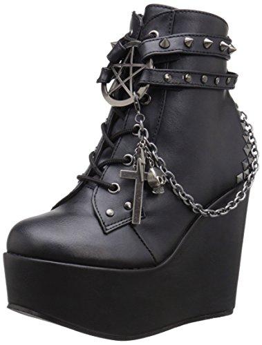 Demonia Poison-101, Botines Mujer, Black Blk Vegan Leather, 40 EU