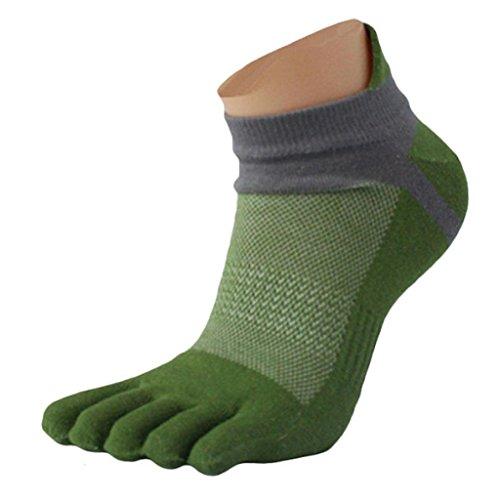 QinMM Calcetines cinco dedos hombre 1 pares, malla Deportes Cinco calcetines del dedo del pie (E)