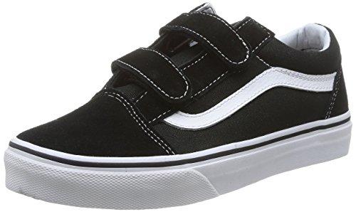 Vans Old SKOOL V - Zapatilla Deportiva de Lona Infantil, Color Negro, Talla 34
