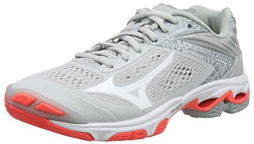 Mizuno Wave Lightning Z5, Zapatillas de Voleibol Unisex Adulto, Gris Glaciergray Blanco Fiery Coral...