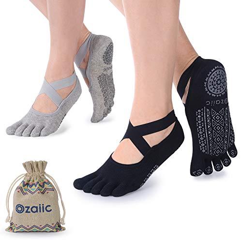 Ozaiic Calcetines Yoga Pilates Antideslizante Deporte Mujeres Pueden Utilizar para Yoga, Pilates y...