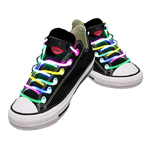 Cordones impermeables para zapatos con LED en diferentes colores: verde, rojo, amarillo, naranja,...