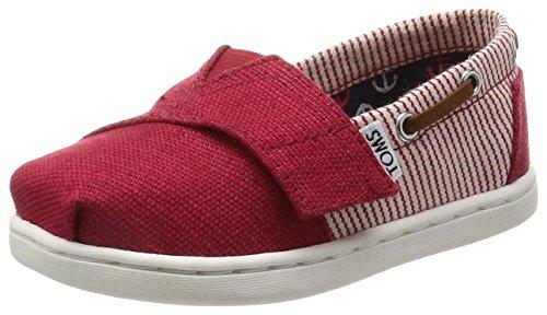TOMS - Alpargatas para niño Red/ Stripe