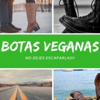 BOTAS VEGANAS PARA ESTE OTOÑO/INVIERNO 2018-2019